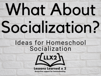 What About Socialization? Ideas for Homeschool Socialization