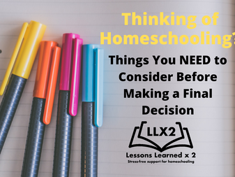 Thinking of Homeschooling? Building a strong foundation for your homeschooling journey.