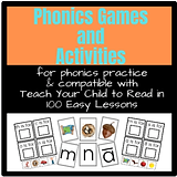 Phonics Games and Activities Compatible with Teach Your Child to Read in 100 Easy Lessons