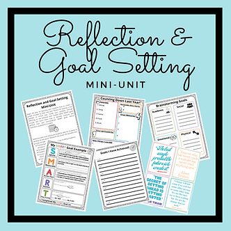 Reflection and SMART Goal Unit