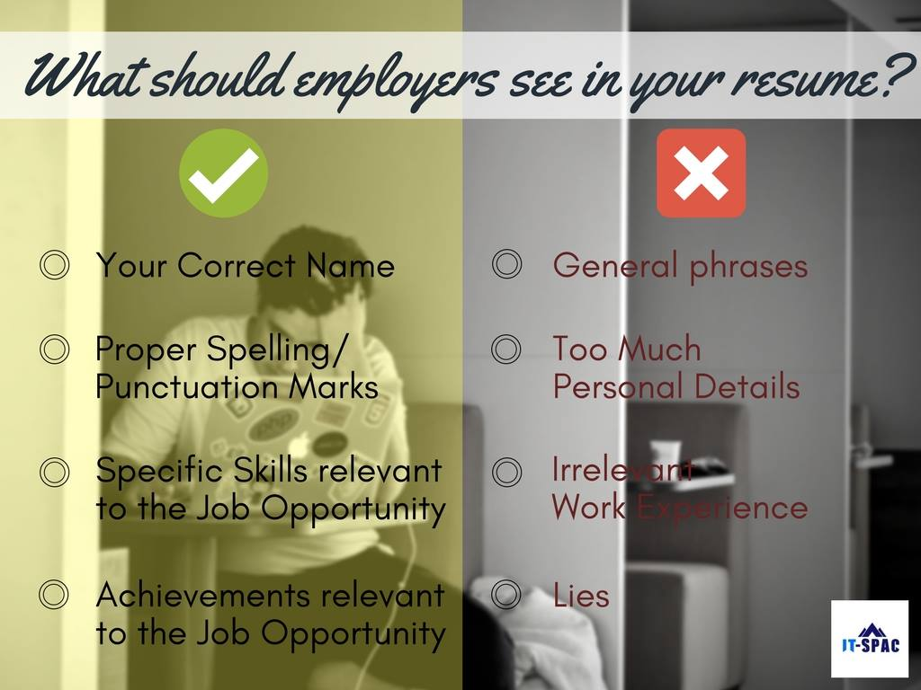 What Should Your Employers See In Your Resume It Services