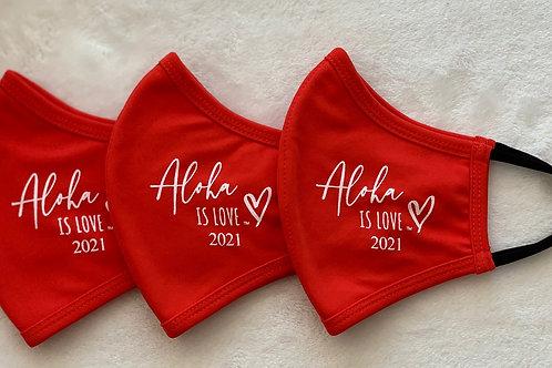 Aloha is Love Red 2021