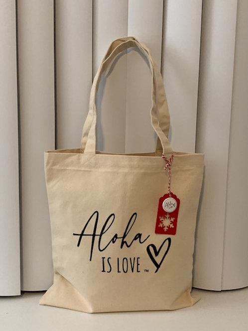 Aloha is Love Tote Bag and Tag