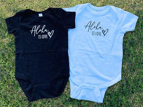 Aloha is Love Baby Onesie