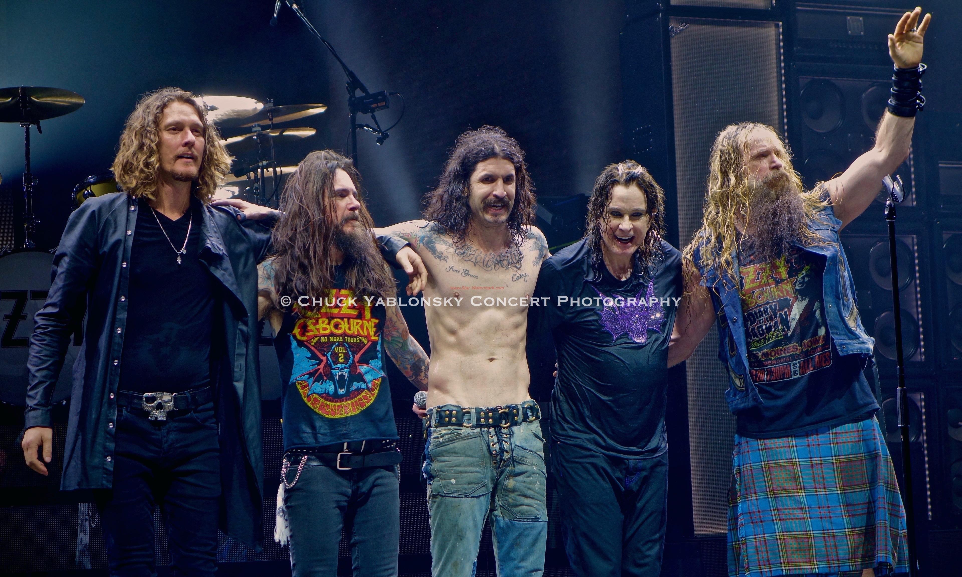 Adam Wakeman, Rob Nicholson, Tommy Clufetos, Ozzy Osbourne & Zakk Wylde