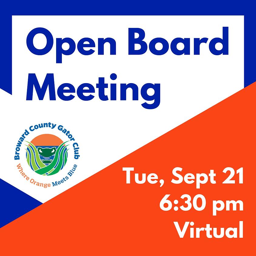 September Board Meeting