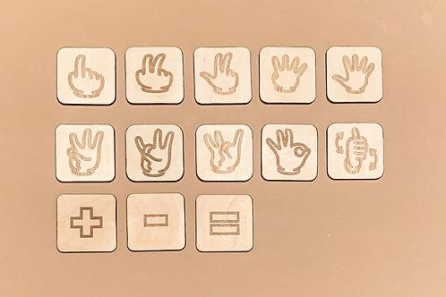 ASL Number Tiles