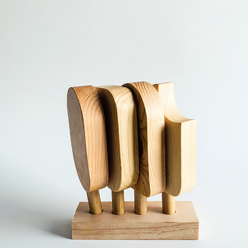Natural Wooden Popsicles