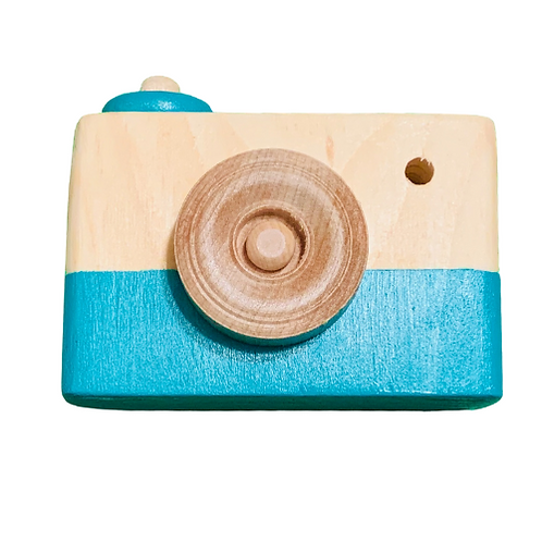 Turquoise Wooden Camera