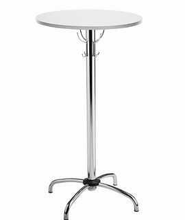 In Malta wedding bistro tables for rental / rent / hire, white bistro tables for rent in Malta, stools and bistro tables to rent / hire, tables for rent. white / beech colors available
