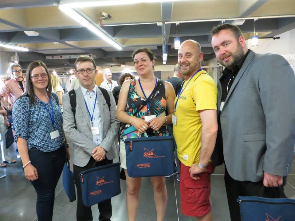 L-R: Dr Siobhán Howard (MIC), Prof Brian Hughes (NUIG), Dr Rachel Sumner (UL), Dr Stephen Gallagher (UL), Páraic Ó Súilleabháin (NUIG) - photo courtesy of Amanda Sesker