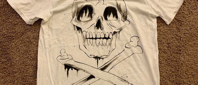 Drippy Skull (Custom order) txt your size with receipt to 610-522-7441