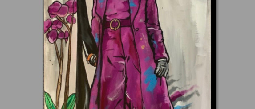 Purple Orchid Canvas print (Size 16x20)