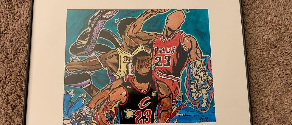 NBA Universe (Framed Print)