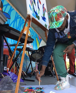 ArtLife316 Live painting on Stage at the Bartram Gardens Concert
