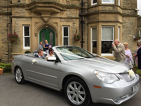Convertible wedding car Cheshire