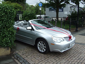 Wedding car Derbyshire
