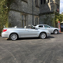 Modern convertible wedding car Derbyshire