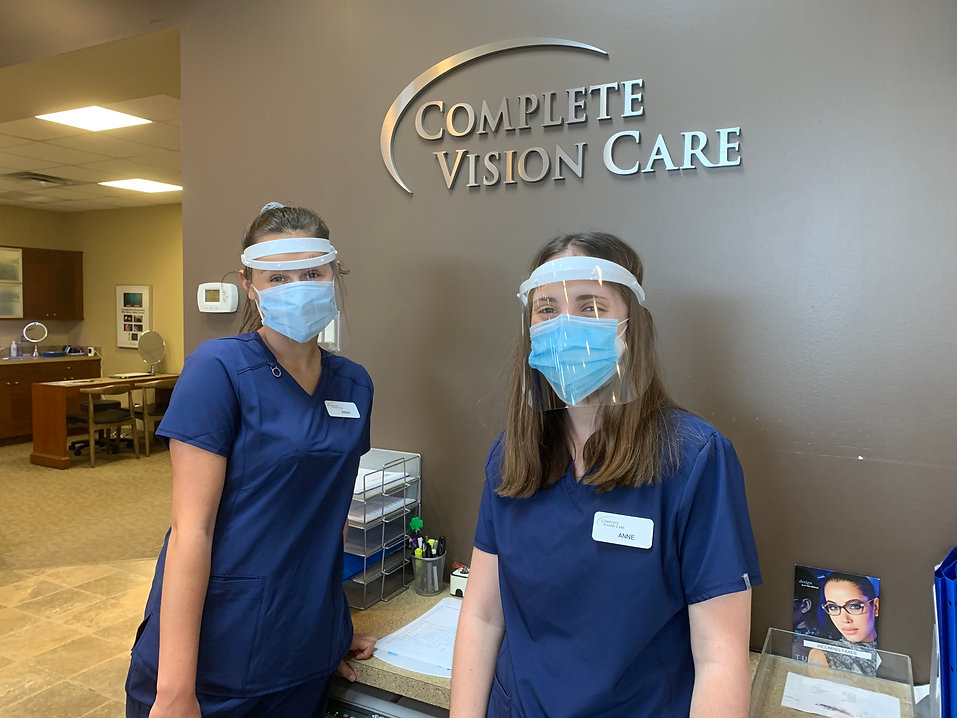 Two Complete Vision Care eye care team members