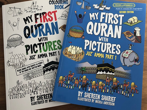 My First Quran With Pictures + Colouring Book (Second Edition)