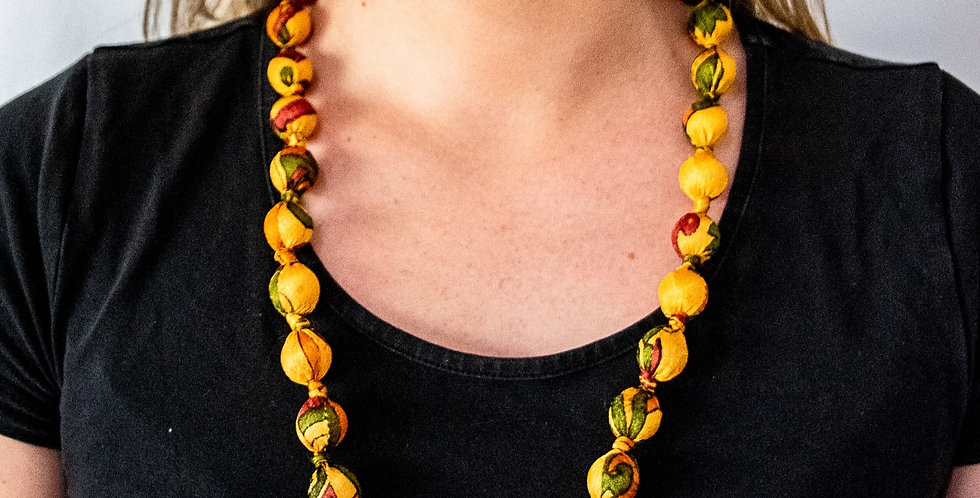I Was A Sari Necklace - Medium
