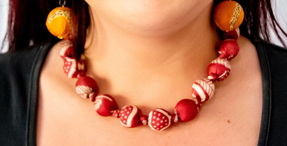I Was A Sari Necklace - Small