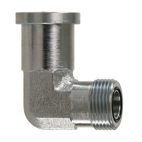 09993... SAE CODE 61 FLANGE to ORFS 90º ELBOW