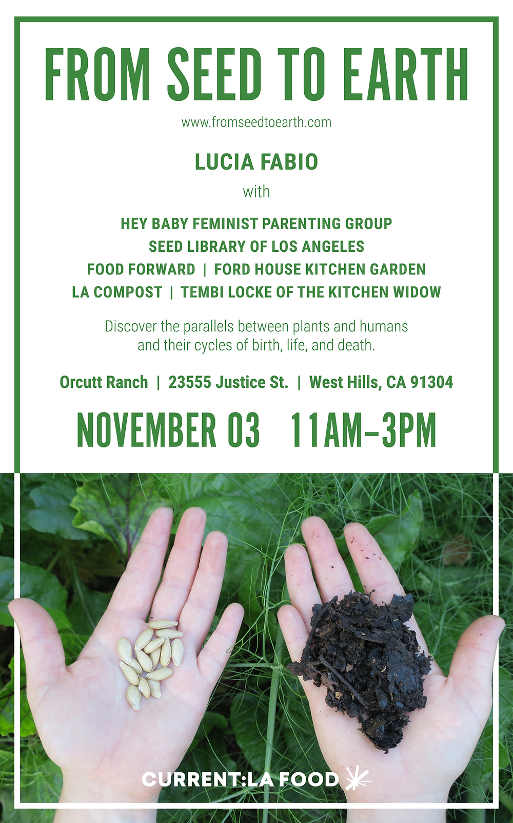 FROM SEED TO EARTH 11/3/19 11-3pm Orcutt Valley Ranch