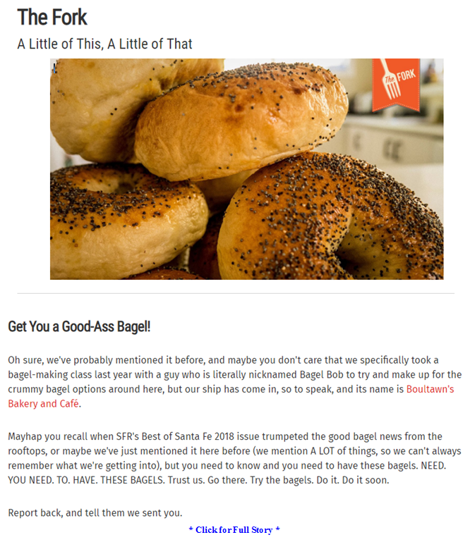 Best Bagel in Santa Fe, New Mexico by Tawn Dix