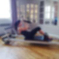 Pilates sur appareils, reformer tour
