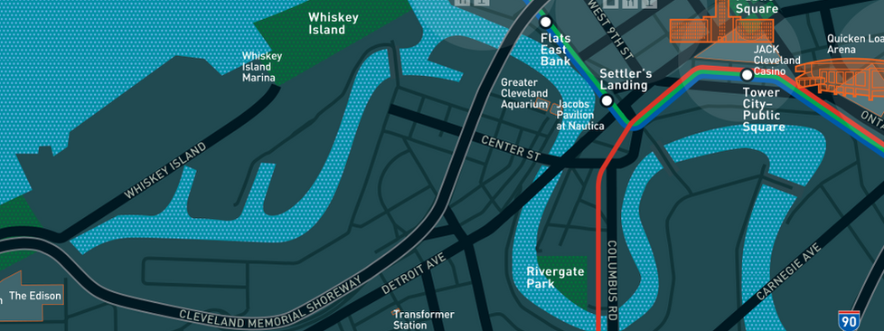 Destination Cleveland created a map to help you explore the Flats!