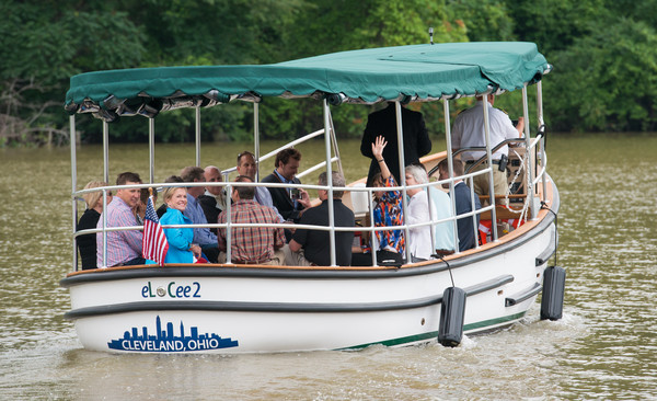 Cleveland Metroparks offers a free river taxi service during the summer!