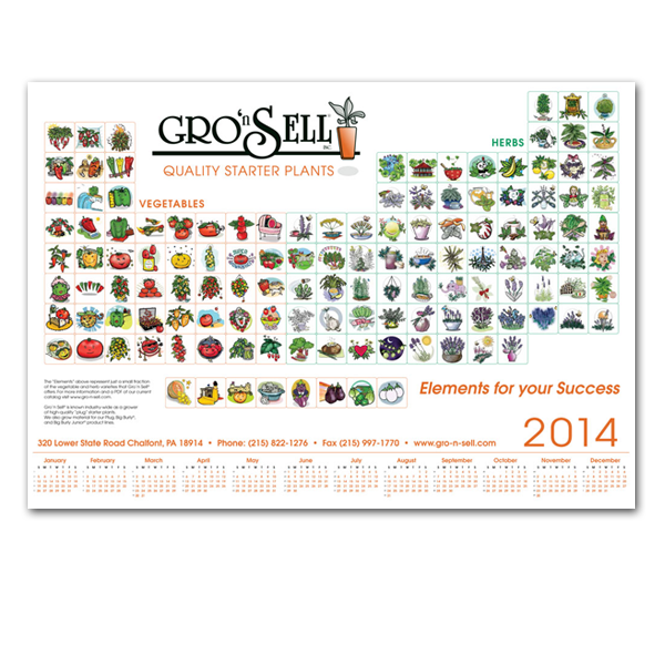 Gro n' Sell Poster and Calendar