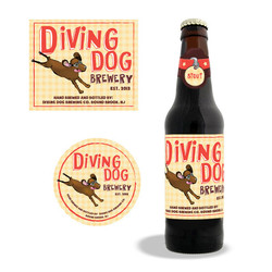 Diving Dog Logo and Labels