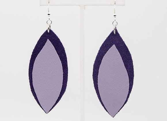 Purple and Lilac Earrings