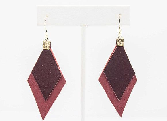 Merlot Leather Earrings