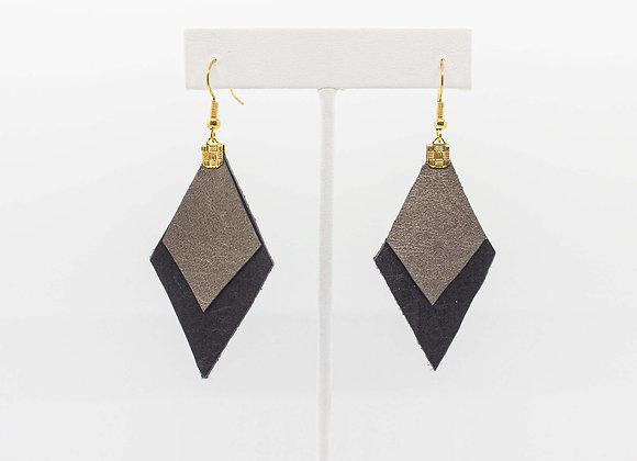 Black and Pewter Earrings