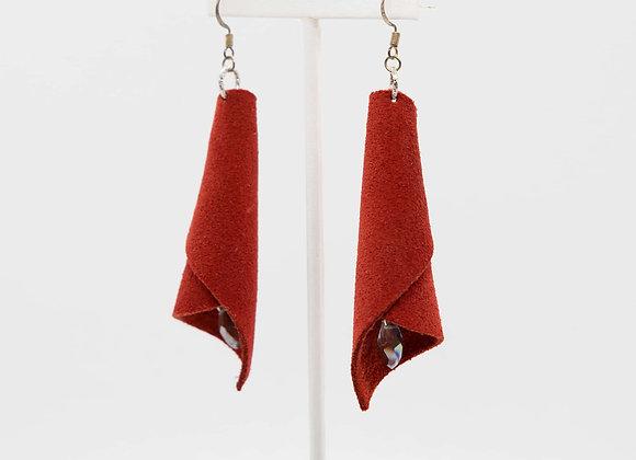 Red Suede Earrings