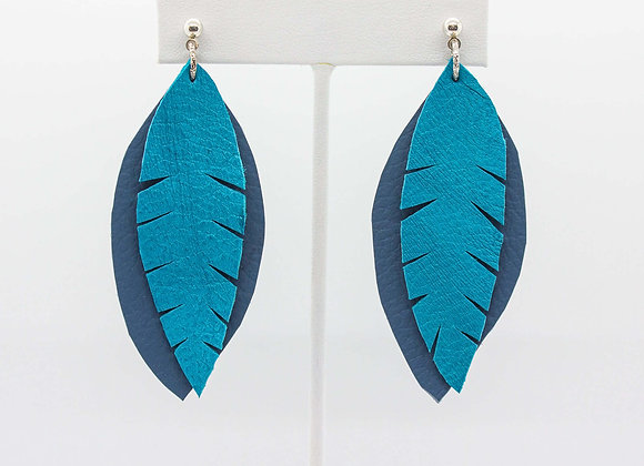 Blue and Teal Earrings
