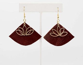 Crimson and Gold Earrings
