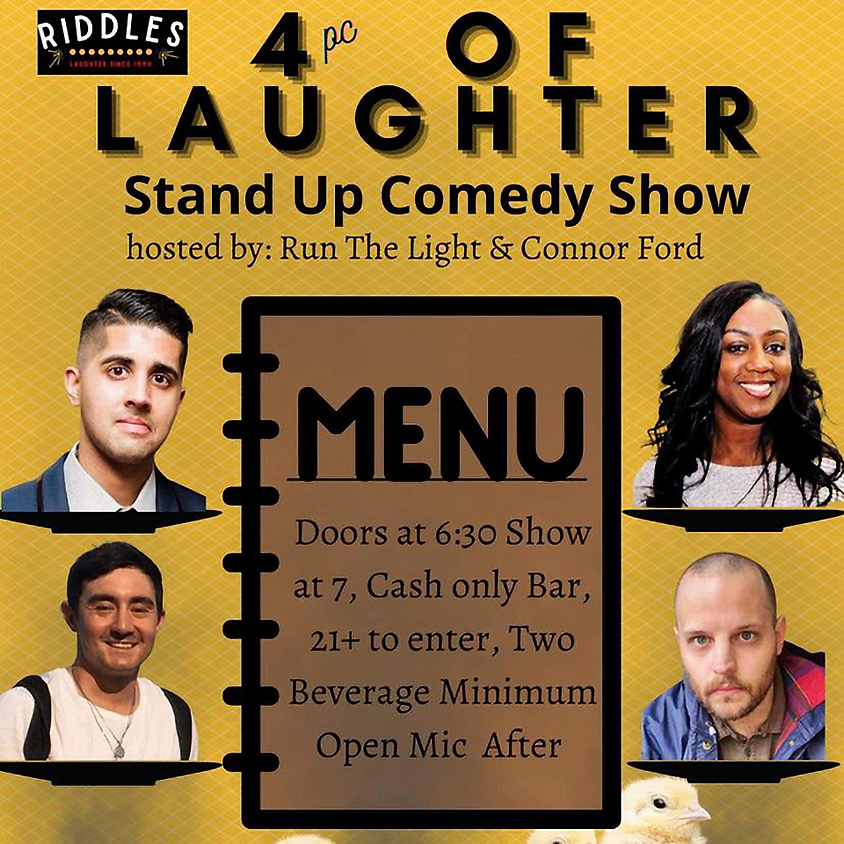 Monday 6/7  4 PC of Laugter & Open Mic
