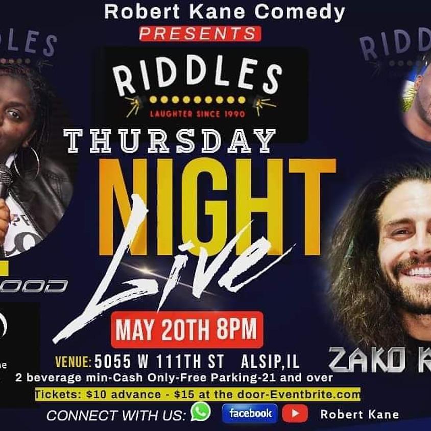 Thursday 5/20          ROBERT KANE