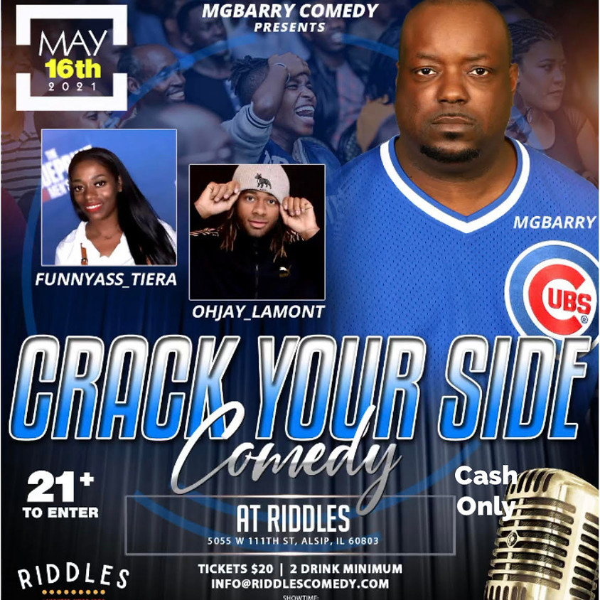 Sunday May  16th        CRACK YOUR SIDE WITH: MARVIN BERRY