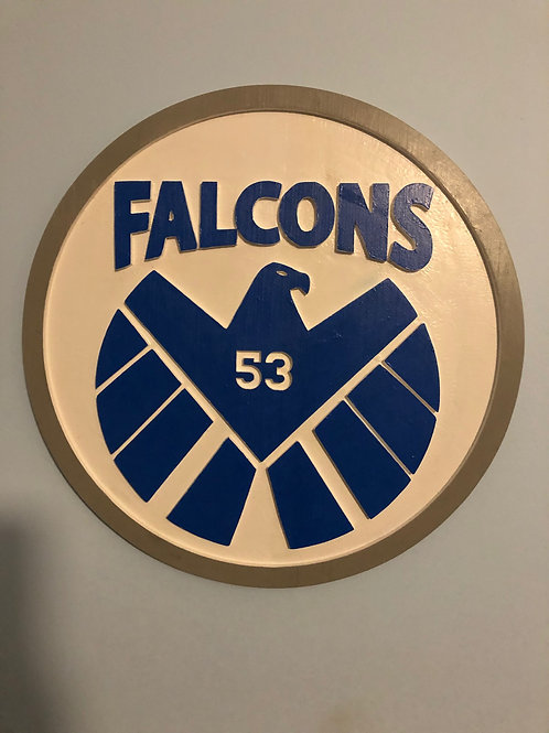 Custom Wood Falcons Sign