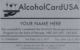 TAM Card Alcohol Card