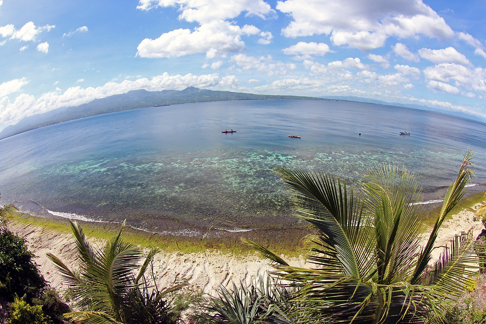 View from Eden Resort to Negros Orientel