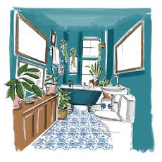 Stylist  - Bathroom scene