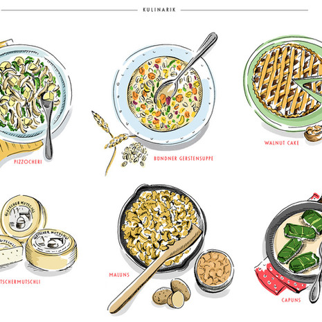 Dishes of St Moritz