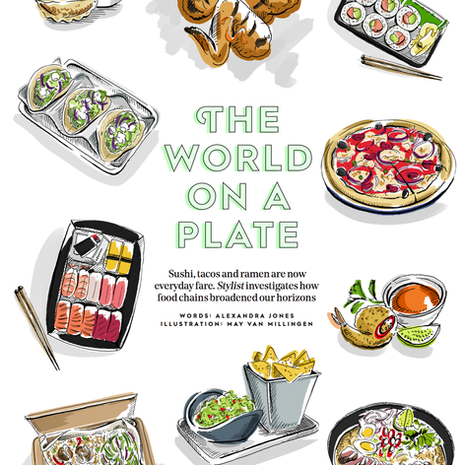 Stylist Magazine - The World on a plate