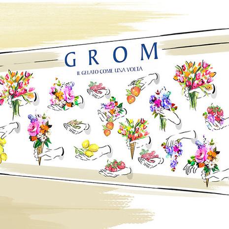 Grom flower wall